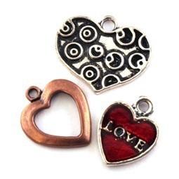 Breloque coeur pour bijoux