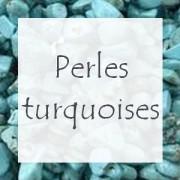 Perles pierre turquoise - Perles gemmes turquoise