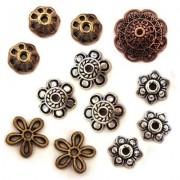 Perles coupelles et calottes en métal