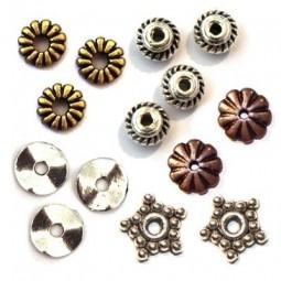Perles Rondelles en Métal - Perles Intercalaires