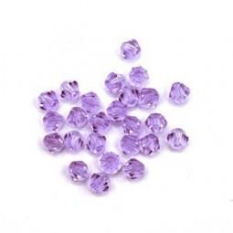 Perles Toupies en Verre - Perles Bicônes