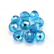 Perles à facettes 10mm, 12mm et 14mm en verre de bohème