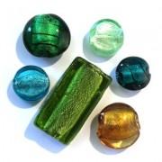 Perles en Verre Feuille Argent - Perlasara Perles & Loisirs