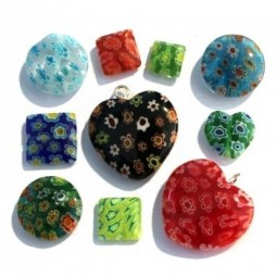 Perles en Verre Millefiori