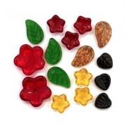 Vente de Perles en Verres - Perles Fleurs et Feuilles