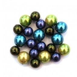 Perles nacrées en verre