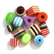 Perles Rayées Multicolor