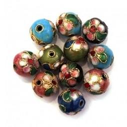 Perles Cloisonnées Rondes